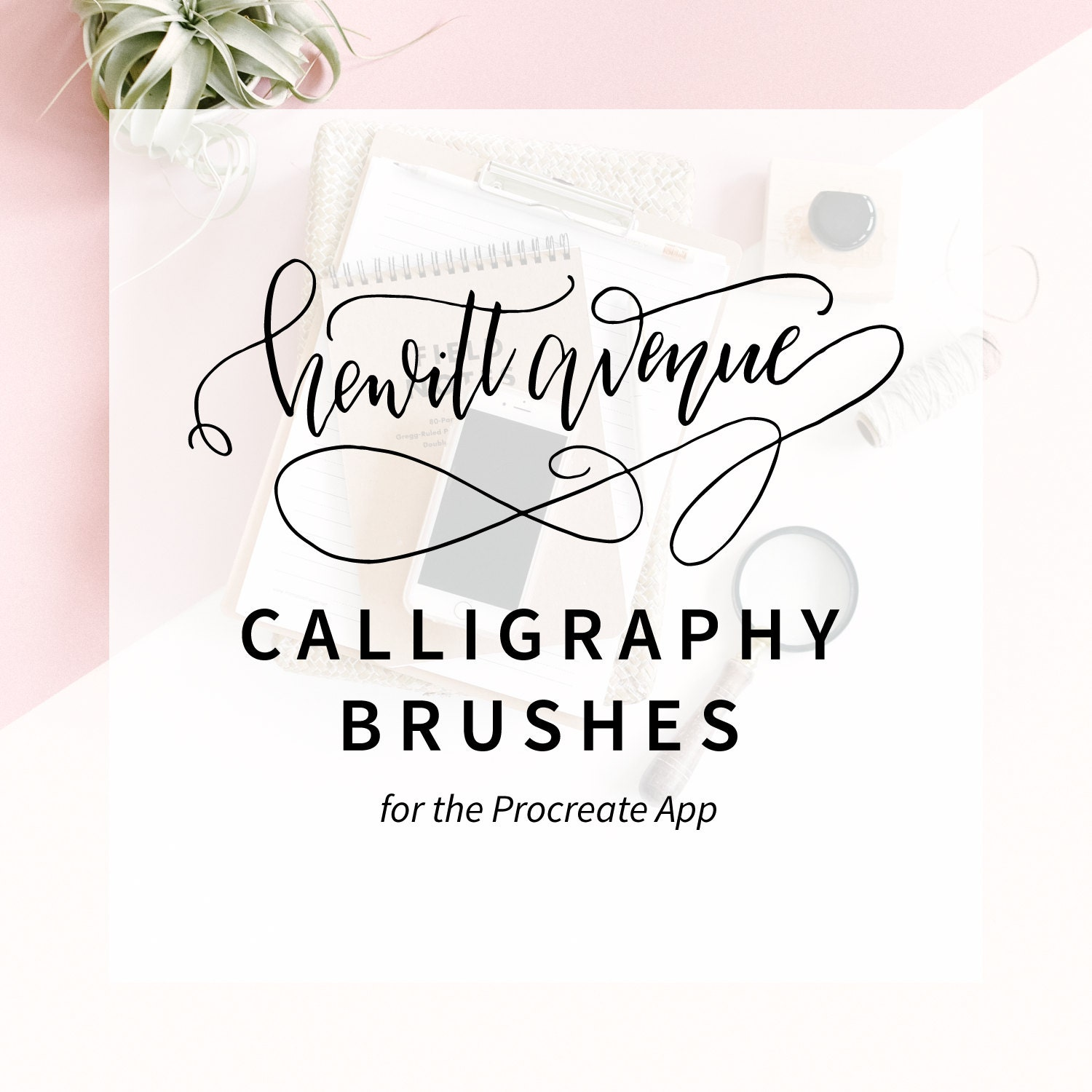 Casual calligraphy procreate brush from hewittavenue on