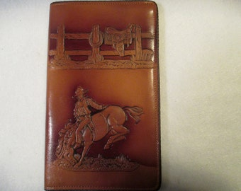 Vintage Western Leather Wallet in mint condition