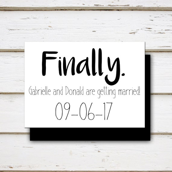 The Wedding Date Quotes: Printable Funny Save The Date Finally Shit Just Got Real