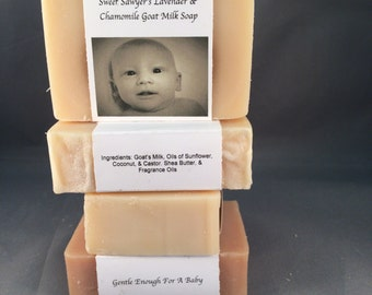 Sweet Sawyer's Lavender & Chamomile Goat Milk Soap