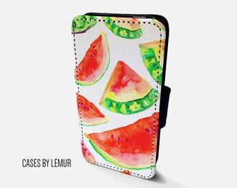 WATERMELON Wallet Case For Samsung Galaxy S5 Wallet Case For Samsung Galaxy S5 Leather Case For Samsung Galaxy S5 Leather Wallet Case For