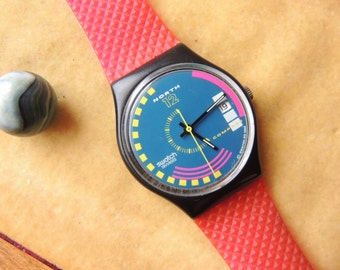 Vintage 1990 Swatch Quartz Watch
