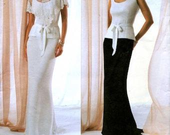 Vogue American Designer Badgley Mischka Caplet, Top, Skirt and Belt Sewing Pattern - Vogue 2776   uncut  Size 14, 16, 18 Bust 36 38 40