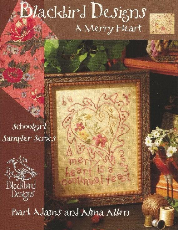 Blackbird designs a merry heart primitive heart for Christmas garden blackbird designs