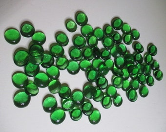 Clear Green Glass Pebbles, Mosaic Glass Pebbles, Round Glass Pebbles