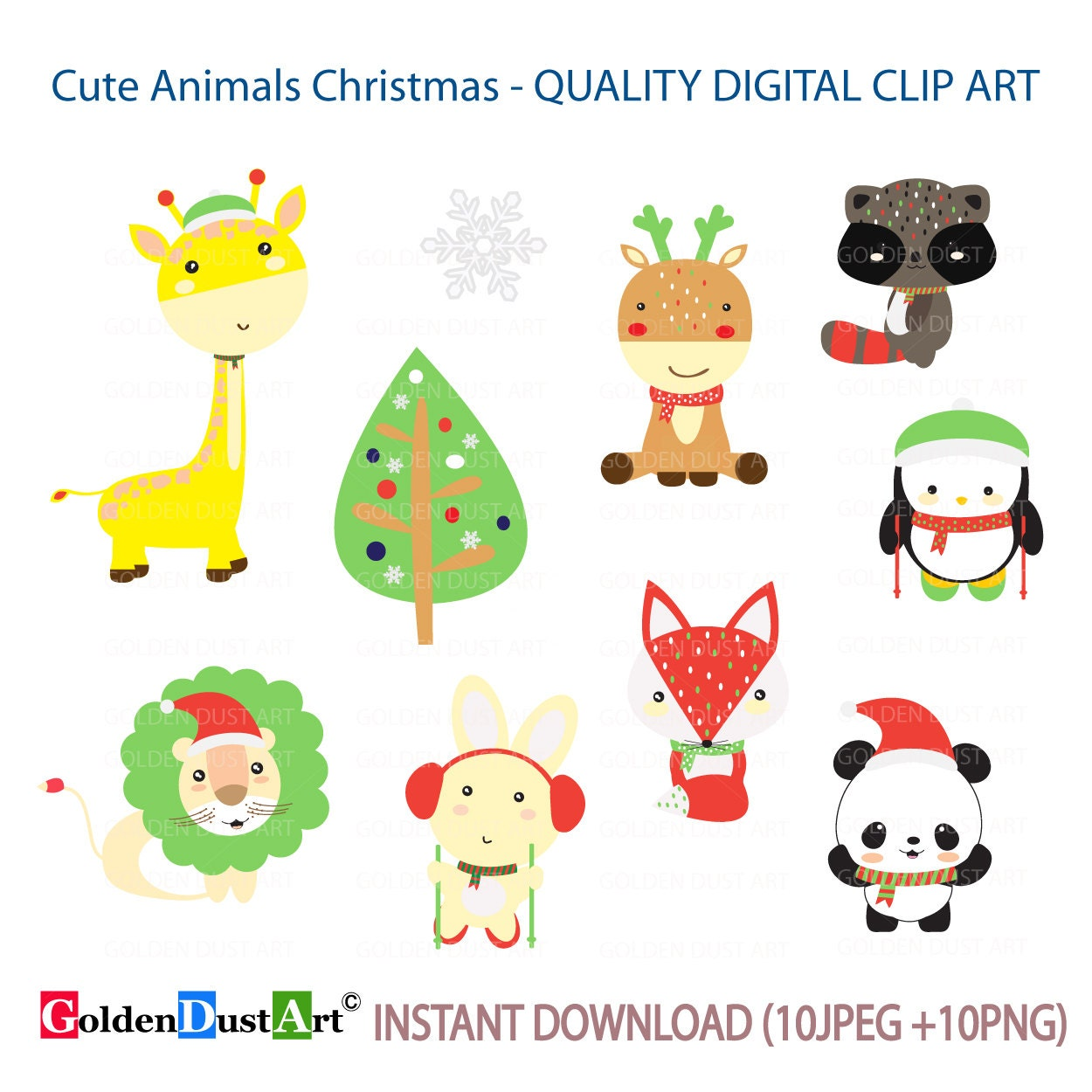 20% OFF SALE Woodland Christmas Christmas Animal Cute