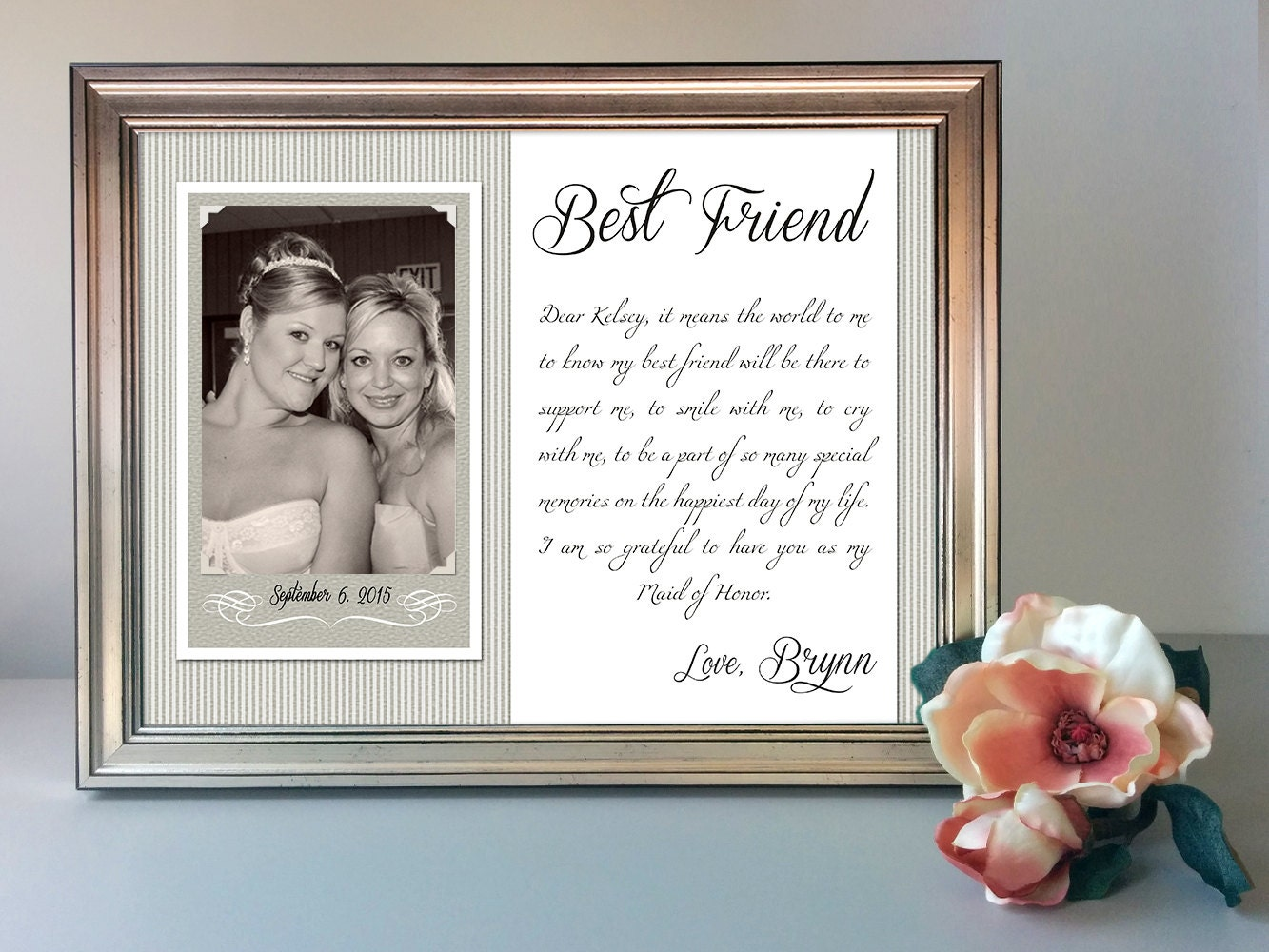 Best Friend Wedding Gift Best Friend Thank You Gift By Cvetolleta