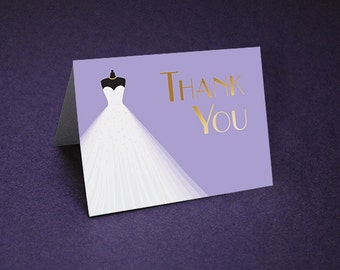 Bridal Shower Thank You Cards • Art Deco Shower Thank Yous • Bridal Shower Thanks • Wedding Shower Thank You Card • Unique Thank You Card