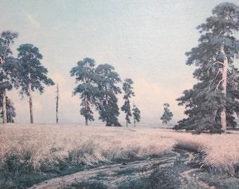 Ivan Shishkin, A Rye Field, Vintage Print Landscape