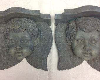 Cherub/Angel Wall Sconce-Pair