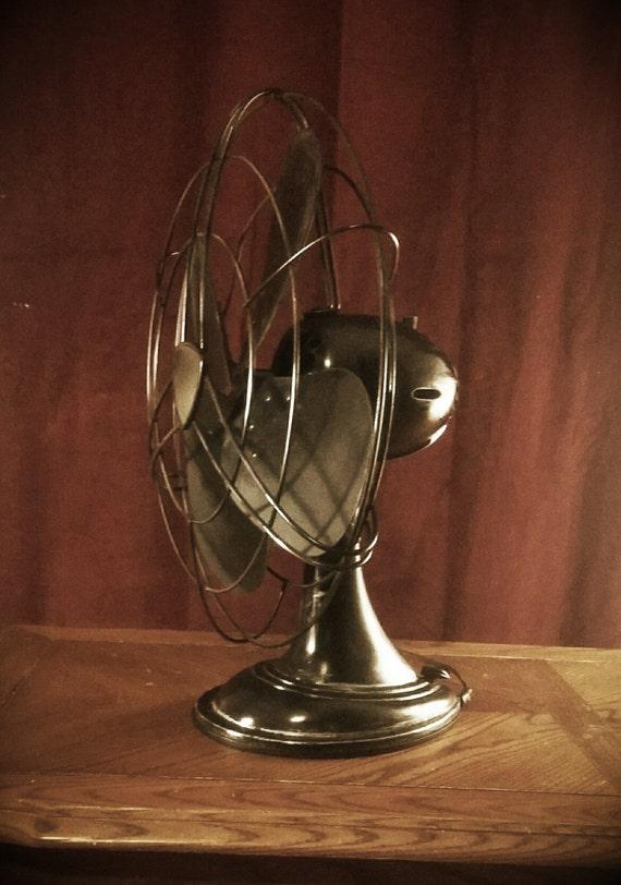 Vintage Westinghouse Fan Electric Oscillating Desk Fan Mid