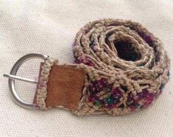 Multicolor Pure Hemp Belt