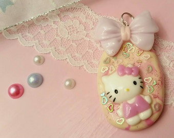 Polymer clay pendant Hello Kitty