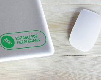Pizzatarian Vinyl Laptop Decal Sticker