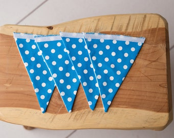 Royal Blue and White Polka Dot 4 Piece Banner Set for Customizable Banner {4 Flags Only}
