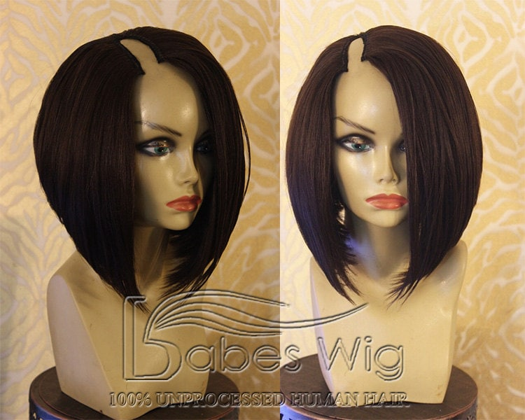 U Part Wigs For Short Hair 73