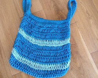 Blue Market Bag 2 tone