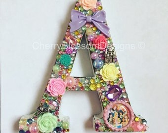 Sparkly Wooden Initial