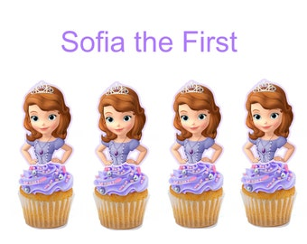 DIGITAL FILE/ PRINTABLE Sofia the First cupcake toppers