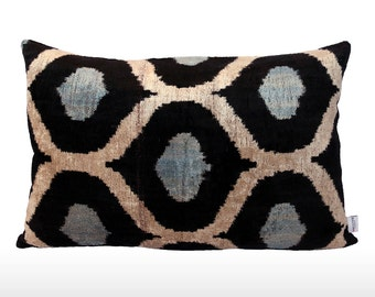 Velvet Ikat Pillow: Bubbles [various colors]