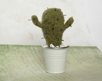 Needle felted cactus, eco friendly decoration, Succulent cute plant