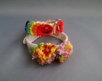 Knitted collar for animals