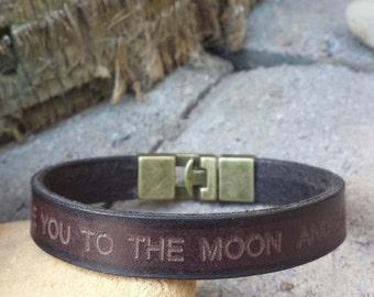Free Shipping-Men Bracelet,Men Leather Bracelet,Men Personalized Bracelet,Custom Leather Bracelet,,Bracelets For Men