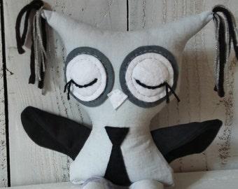 """Owl Softie, Plush Owl Boy, """"READY TO SHIP"""""""