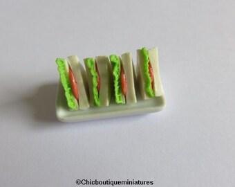 Dolls House Miniature Food-Sandwiches