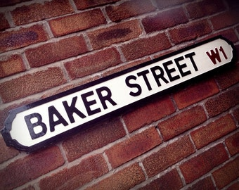 Baker Street Faux Cast Iron Old Fashioned Street Sign