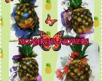 TIKI PINEAPPLES FLOWERS