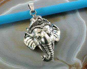 Ganesh, 925 sterling silver, pendant- 4720