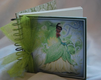 Princess Tiana from Princess and the Frog Autograph Book, Birthday Guest Book 6x6