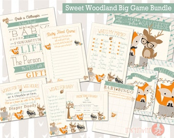 sweet woodland baby shower big bundle games forest friends shower woodland animals donu0027