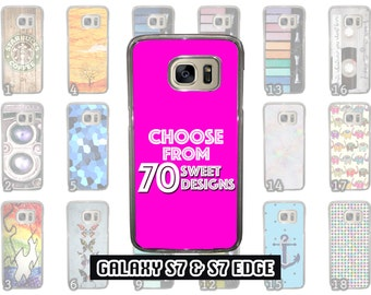 Great Samsung Galaxy S7 & Samsung Galaxy S7 Edge Phone Case Choose from 70 Designs Makeup / Anchor / Patterns / Cross fit  / Stained Glass /