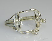 Square Regalle Sterling Silver Pre-Notched RING Setting (ID# 163-840)