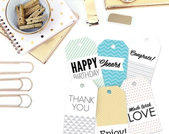"""Gift Tags with Twine, Set of 6, 2"""" x 3.75"""""""