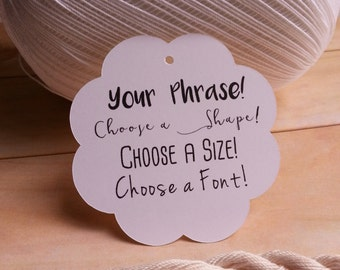25 Personalized Tags, Personalized Wedding Tags, Custom Favor Tags, Personalized Baby Shower Tags, Custom Tags