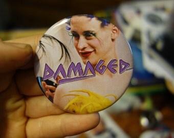"DAMAGED Macaulay Culkin PARTY MONSTER 2.25"" badge"