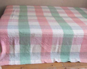 plaid pastel blanket etsy. Black Bedroom Furniture Sets. Home Design Ideas