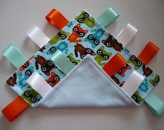 Minky Taggie Blanket Woodland Pals Fabric