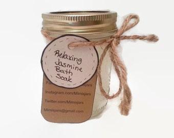 Jasmine Bath Soak- Relaxing Bath Soak- Natural Body Soak- Natural Bath Soak- Aromatherapy Soak- Jasmine Relaxing Soak