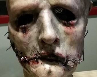 Mutilated Skin Latex Half Mask