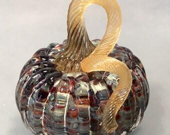 """Glass Ornamental Pumpkin 5"""""""