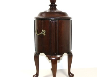 Antique early mahogany wine cooler on stand