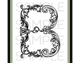 Printable letter b – Etsy