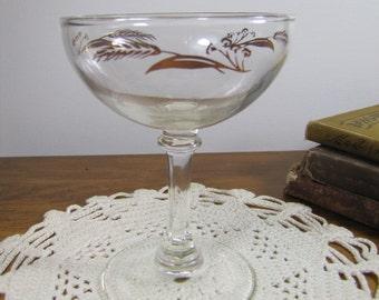 Goldleaf Wheat Pattern Stemware - Goblet