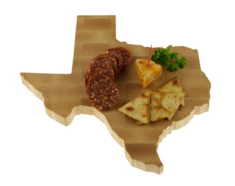 Texas Cutting Board, End Grain Chopping Block, Wedding Gift, Cutting Board in the Shape of Texas State, Personalized Hostess Gift
