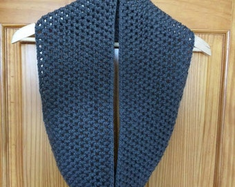 Infinity Cowl Scarf in Gray