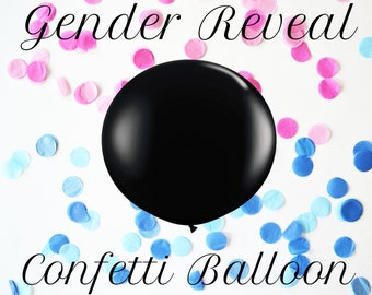 "36"" Extra Large Giant Round Gender Reveal Balloon // Baby Shower + Gender Reveal"